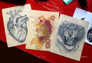 pratique de tatouage